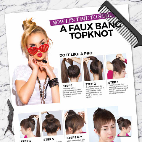 Faux Bang Topknot