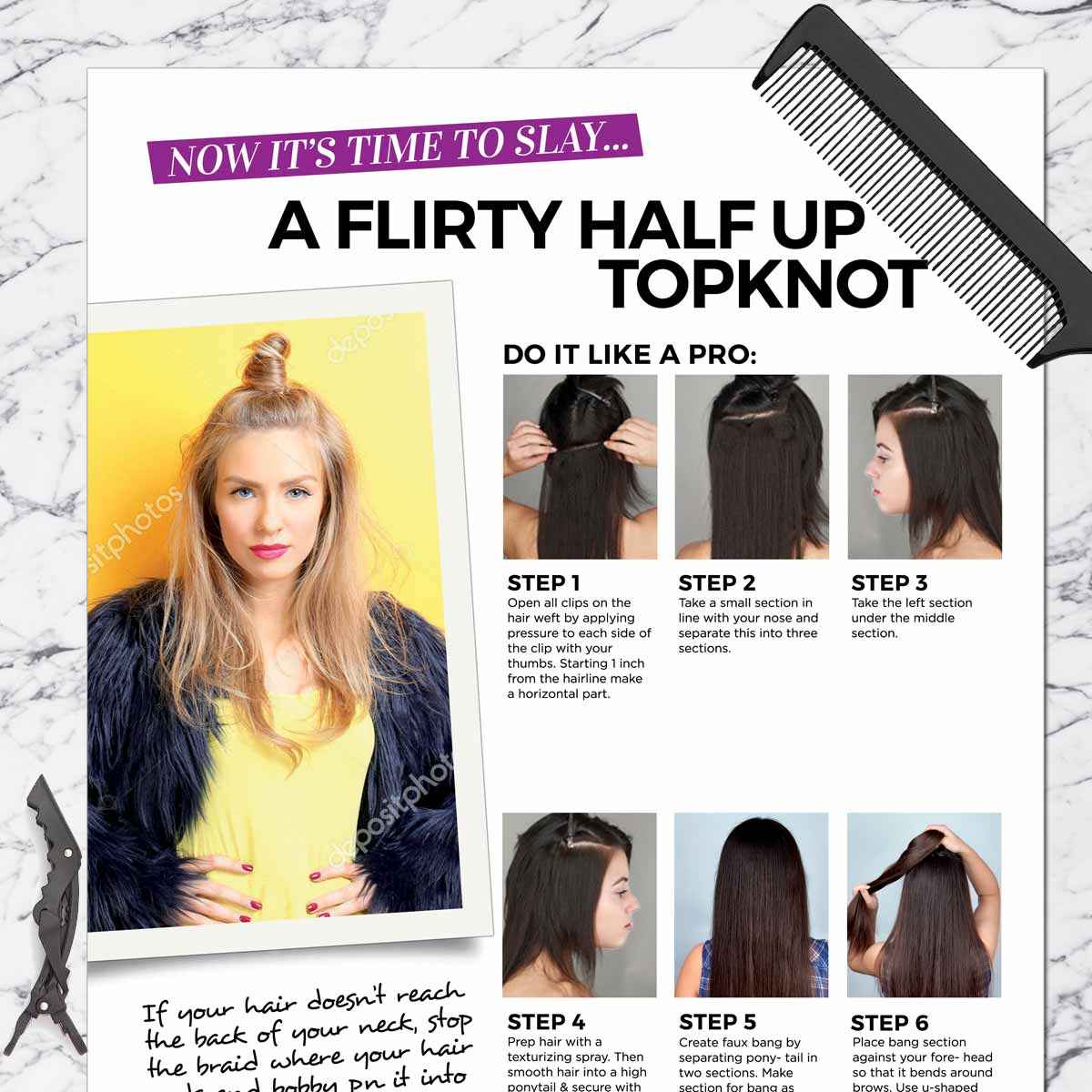 Half Up Topknot Get The Look Styling Kit Weftbar Hair Extensions