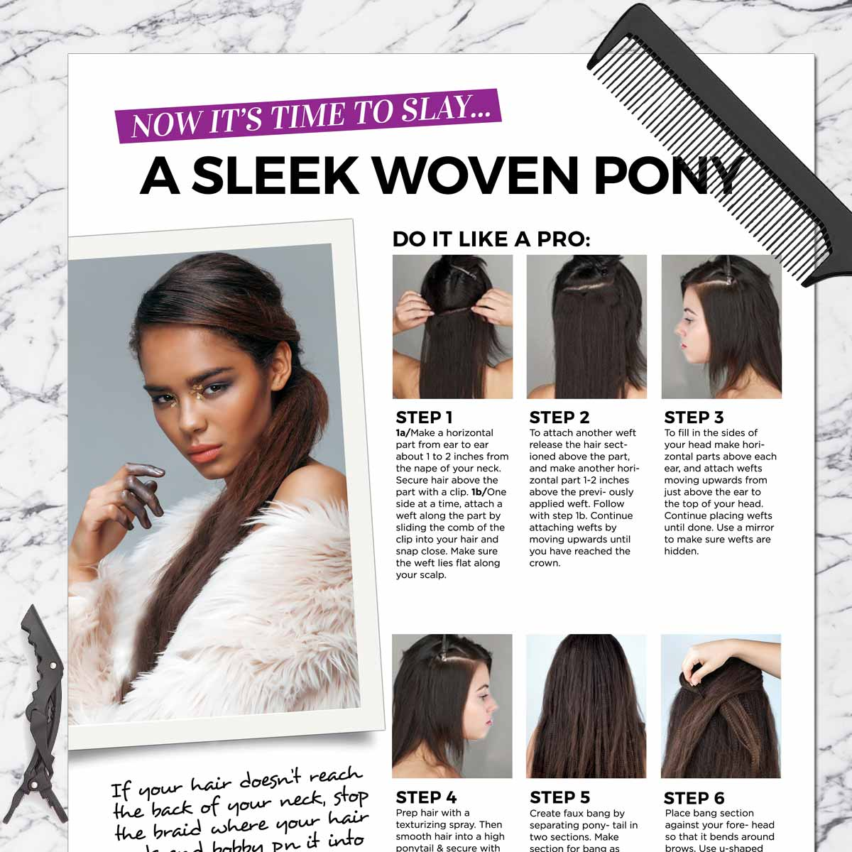 bbfe7339ce6 Woven Ponytail Get the Look Styling Kit – Weftbar Hair Extensions