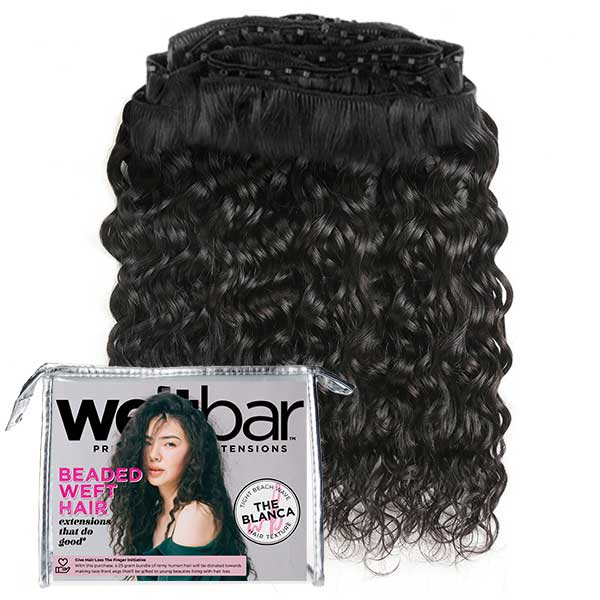 Micro Bead Weave Hair Extensions - BLANCA Tight Beach Wave