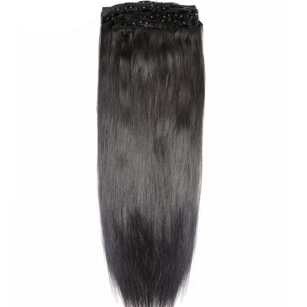 Beaded Row Hair Extensions - SARAH Silky Straight