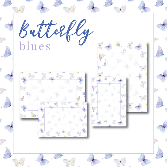 Butterfly Display Cards - Blues