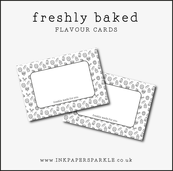 Freshly Baked Flavour Cards