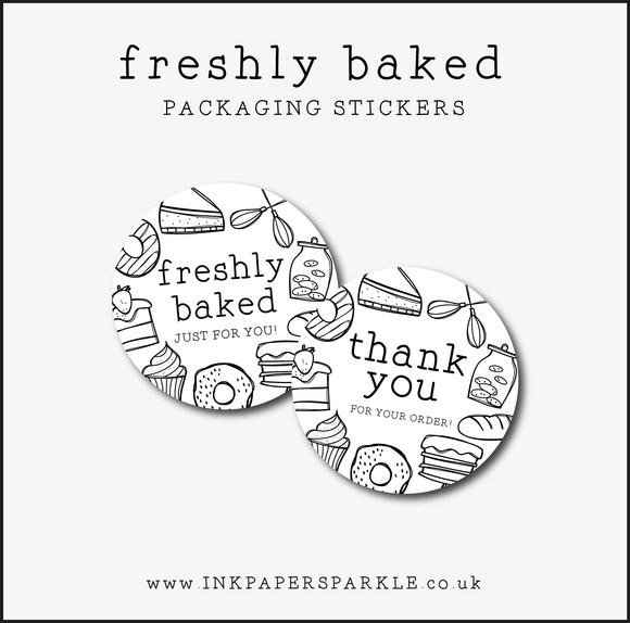 Freshly Baked Packaging Stickers