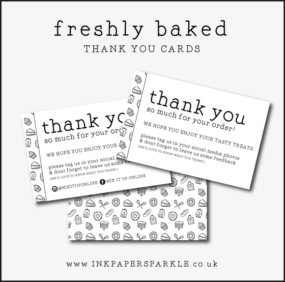 Freshly Baked Thank You Cards
