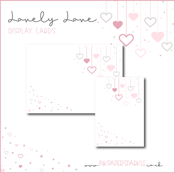 Lovely Love Display Cards