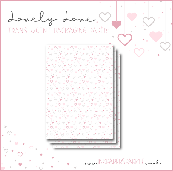 Lovely Love Packaging Paper - Translucent