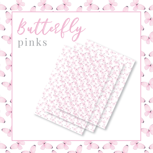 Butterfly Pinks Packaging Paper - Translucent