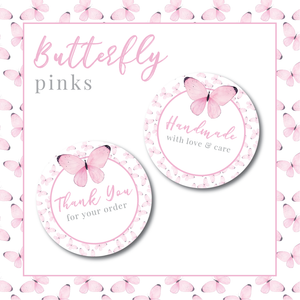 Butterfly Stickers - Pinks