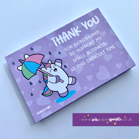 Chubbicorn Dance In The Rain Thank You Cards