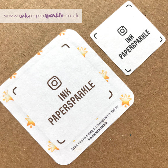 QR code / Instagram Name Tag Stickers