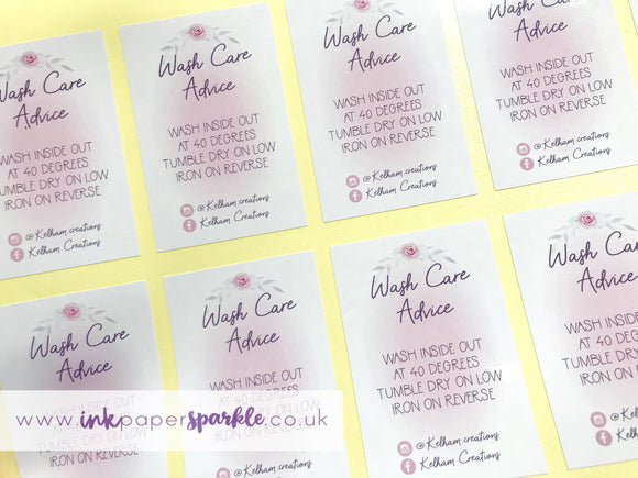 Wash Care Stickers