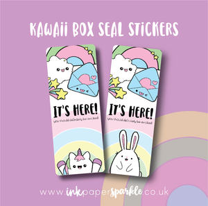 Kawaii Box Seal Stickers