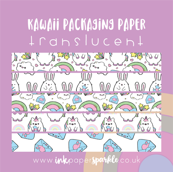Kawaii Packaging Paper - Translucent