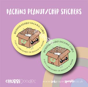 Loose fill / Packing Peanut / Chip stickers
