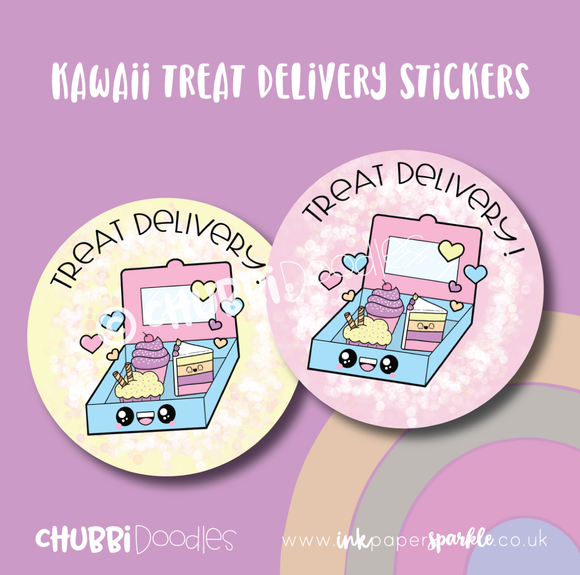 Kawaii Treat Delivery Stickers
