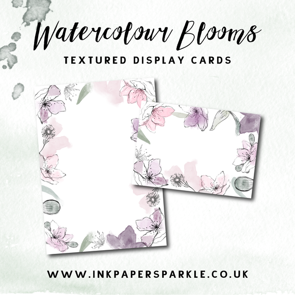 Watercolour Blooms Display Cards