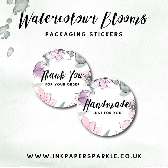 Watercolour Blooms Stickers
