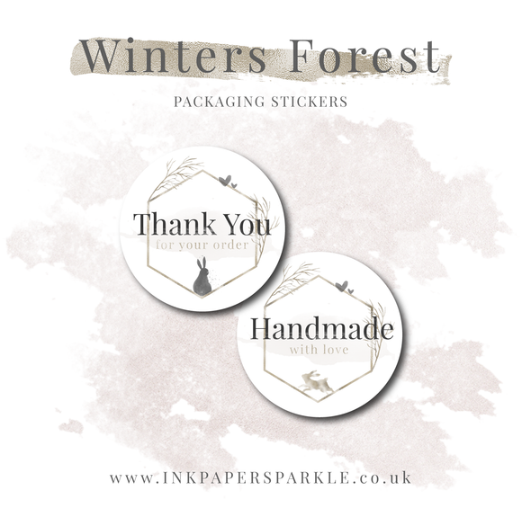 Winter's Forest Stickers