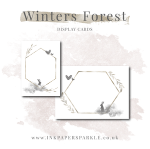 Winter's Forest Display Cards
