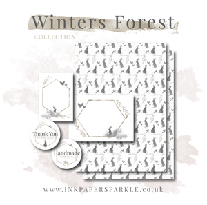 Winter's Forest Packaging Paper - Translucent