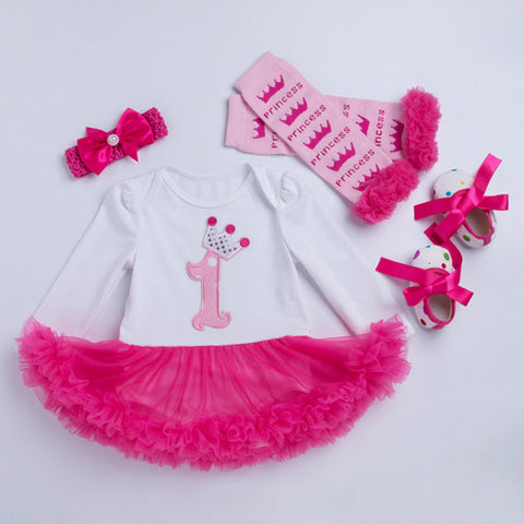 Birthday Tutu Romper Suit (4 piece)
