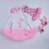 Image of Birthday Tutu Romper Suit (4 piece)