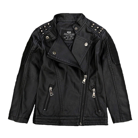 Kids Faux Leather Jackets