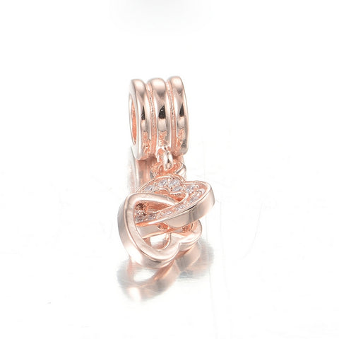 Rose Gold Linked Hearts