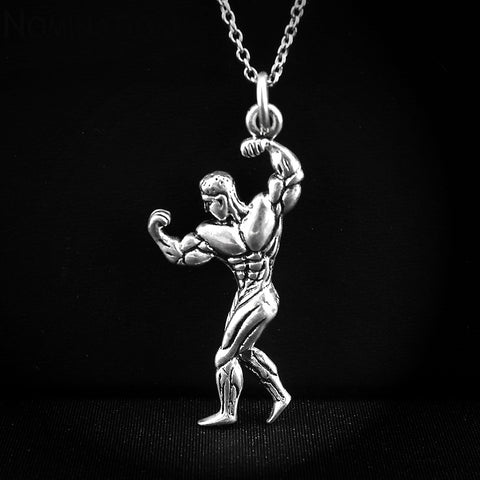 BigBoy2™ Sterling Silver Bodybuilder Necklace