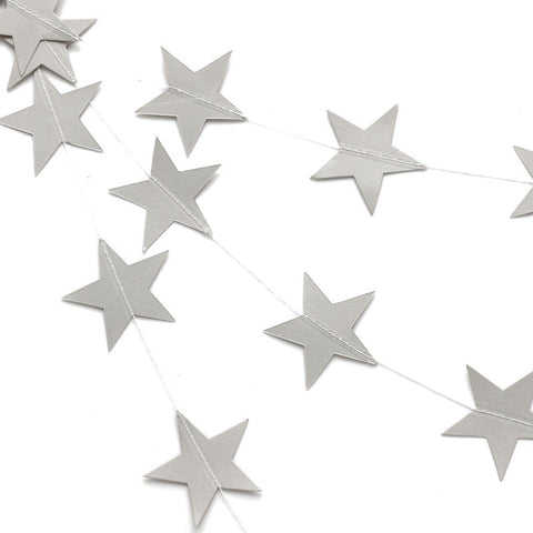 Star-Shaped Paper Garlands (1 Pc)