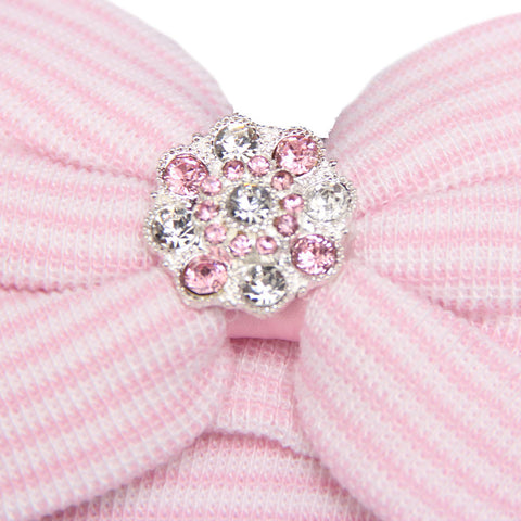 Baby Bowknot Beanie With Rhinestones