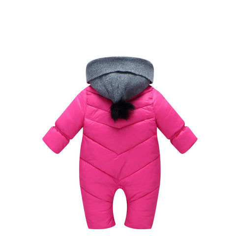 Hooded Winter Romper Coat