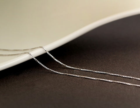 Sterling Silver Slim Box Chain