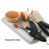 Image of Rose Gold Oval Kabuki Brush Set