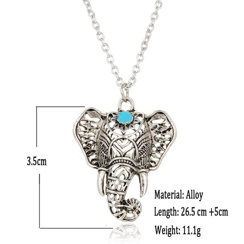 ***FREE*** Antique Silver Elephant Necklace