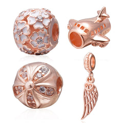 Rose Gold Charms and Clips