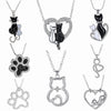 Image of Sparkling Crystal Cat Necklaces