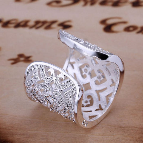 Big Bling™ Silver Clip Ring