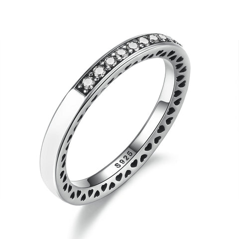 Circle of Hearts Sterling Silver Ring