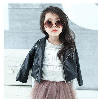 Kids Faux Leather Jacket