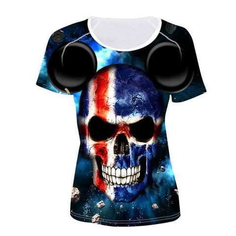 Women's Flag Skull Shirts