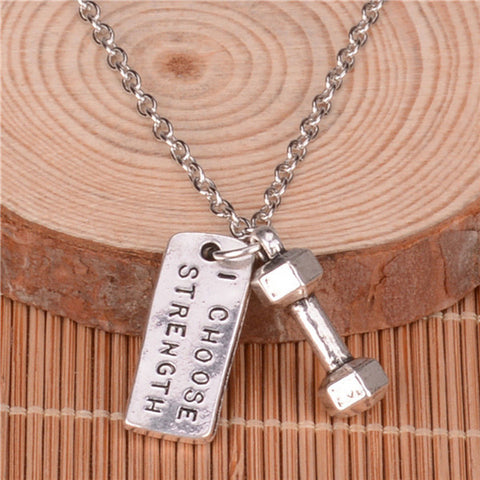 Motivational Gym Quote Necklace