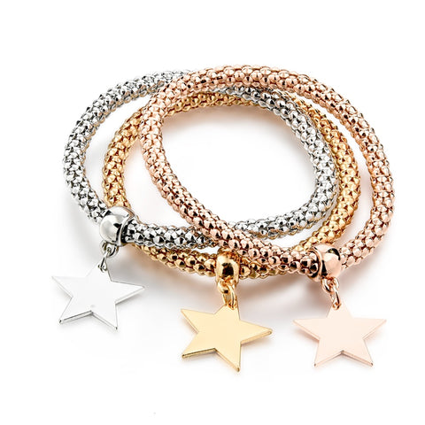 Stretch Charm Bracelet Set