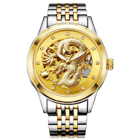 55% OFF Mens Mechanical Dragon Watch
