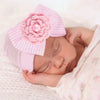 Image of Baby Bowknot Beanie With Rhinestones