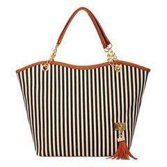 Lilly™ Canvas Stripe Shopping Bag