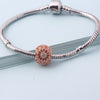 Image of Rose Gold Round Sparkling Charm