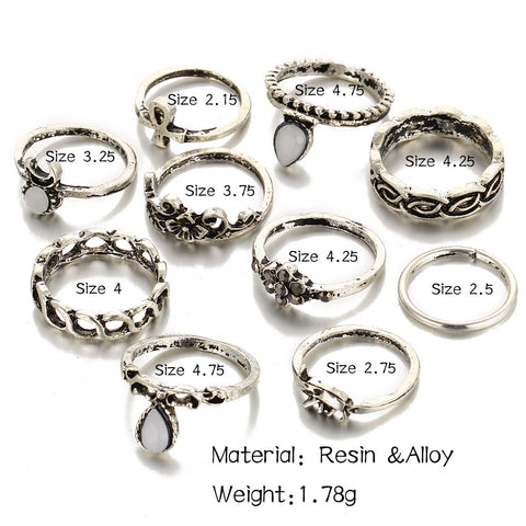 Barefoot™ 10pc Knuckle Ring Set