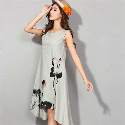 Summer Cotton Print Dress
